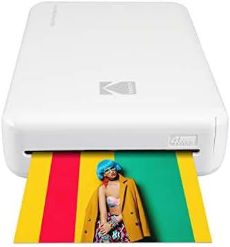 Kodak Mini 2 HD Wireless Portable Mobile Instant Photo Printer, Print Social Media Photos, Premium Quality Full Color Prints – Compatible w/iOS & Android Devices (White)
