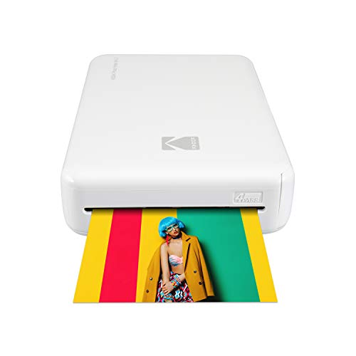 Kodak Mini 2 HD Wireless Portable Mobile Instant Photo Printer, Print Social Media Photos, Premium Quality Full Color Prints - Compatible w/iOS & Android Devices (White)