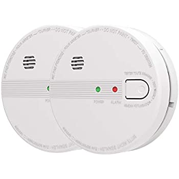 AIKO GS518 Smoke and Fire Alarm, Hardwired, Interconnect Photoelectric Sensor Smoke Alarm with Battery Backup and Smart Hush, Ul Listed, White (Pack ...