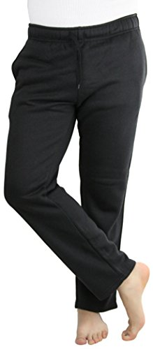 ToBeInStyle Men's Adjustable Drawstring Lined Sweatpants - Black - Medium