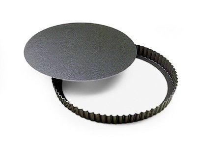 Fluted Non-Stick Tart Pan with Removable Bottom - 11''