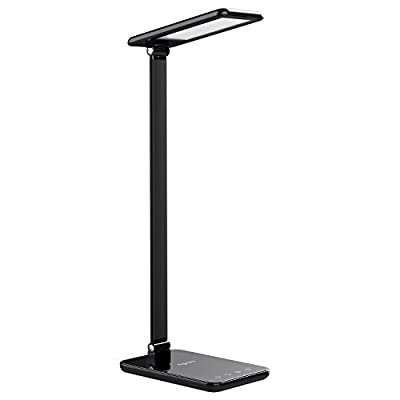Aglaia LED Desk Lamp 8W, Table Lamp with Seamless Dimming and Color Temperature Control, Aluminum Alloy, Eye-Caring Lamp with 1-Hour Auto Timer