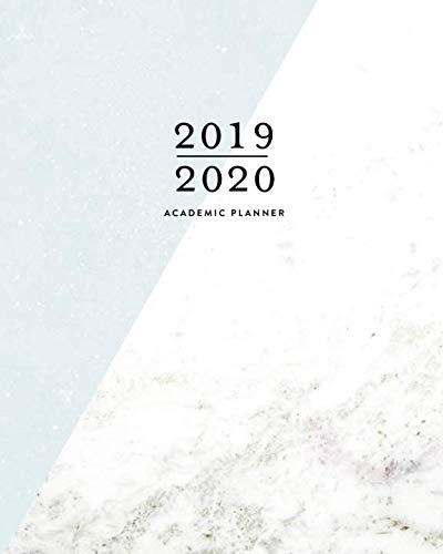 - 2019 | 2020 Academic Planner, 2019-2020 Weekly Planner | 12 Months | July 2019 - June 2020: Simple Modern Blue & Marble Calendar Scheduler Lined Notebook