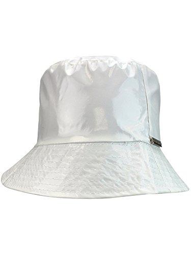 White Crushable Bucket Style Rain Hat ()