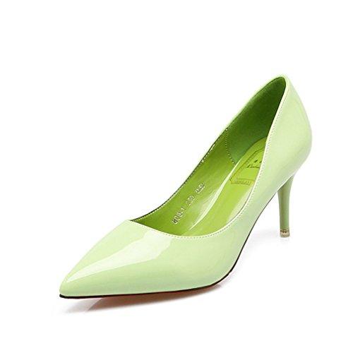 Pu Léger Bonbons On Pure Femmes Stiletto Talon Couleur Chaussure Inconnu Antidérapant Ol Vernis Pompes Escarpins Aiguille Soiree Slip Chaussures Bout Vert Cheville 6Ewq0AX