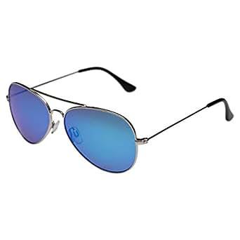 Invu Aviator Silver Men's Sunglasses - INVU-B1410-E-55-23-130