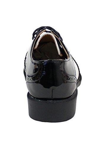 Femme Chaussure Shoes Derbies Noir Style By Plate SX7q5wqx