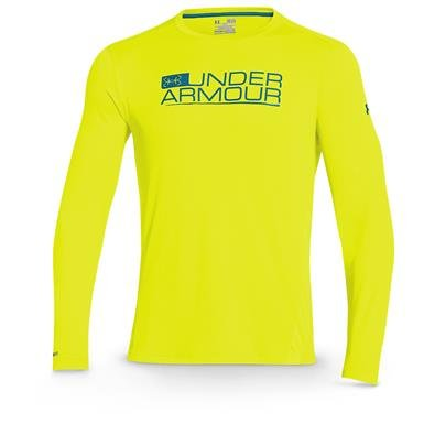 Under Armour Iso Chill Element Vented Shirt  Yellow Ray  Lg