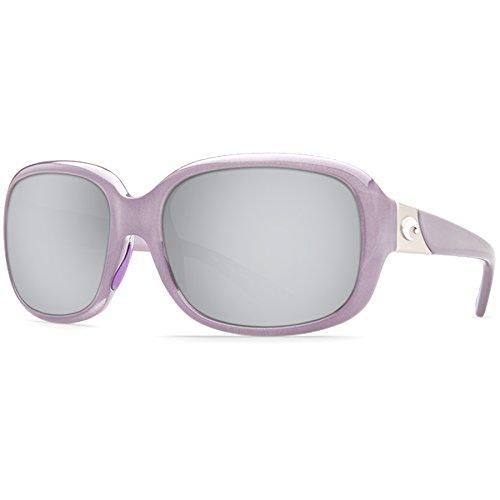 (Costa Del Mar Gannet 580P Gannet, Shiny Sea Lavender Crystal Silver Mirror, Silver Mirror)