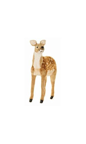 Hansa Life Size Standing Bambi Deer Plush Stuffed Animal