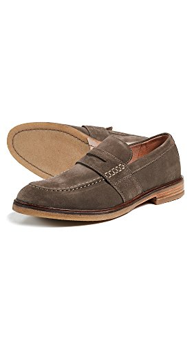 CLARKS Mens Clarkdale Flow Loafers Olive Suede ZpwNMI5joq