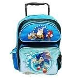 26587780bc3b Amazon.com: Sonic The Hedgehog Large Rolling Backpack: Sports & Outdoors
