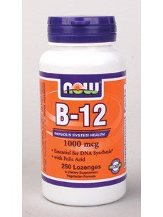 Now Foods Chewable B-12 w/ Folic Acid, 250 Lozenges / 1000mcg ( Multi-Pack)