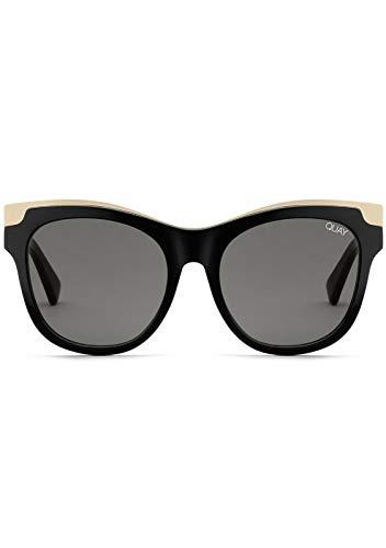 Quay Women's It's My Way Oversized Cat Eye Sunglasses, Black/Gold     ()