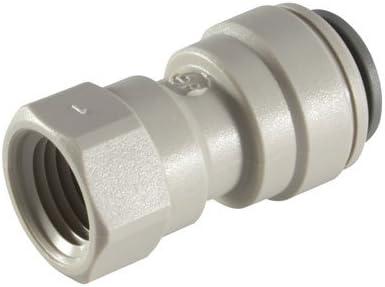 0,64 cm tubo del OD X 0,64 cm push-en accesorios, Imperial adaptador de rosca hembra NPT NPTF JOHN GUEST