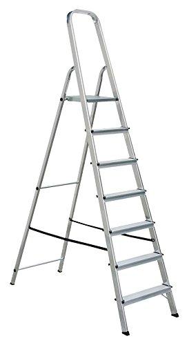 DRAAK Step Ladder 7 Step - Non Slip Treads - Ladder Made From Lightweight  Aluminium Certified to BS EN 131 Part 1-3