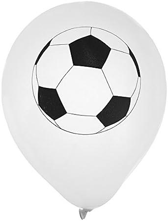 8 globos blancos fútbol (23 cm): Amazon.es: Juguetes y juegos