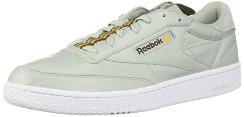Reebok Men's Club C 85 Sneaker sea Spray/White/Lush Earth/Gold/Mineral dust 7 M US