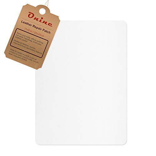 Leather Repair Patch,Self-Adhesive Couch Patch,Multicolor Available Anti Scratch Leather 8X11 Inch Peel and Stick for Sofas, car Seats Hand Bags Jackets (Pearl White)