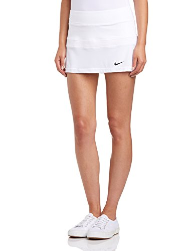 (NIKE Court Ladies Tennis Skirt, White, XL)