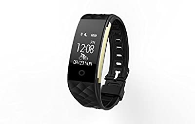 Fitness Tracker,Juboury Heart Rate Activity Trakcer Touch Screen Wearable Pedometer Bluetooth Smart Wristand with Sleep Monitor,Steps Counter,Calories Track for Android and IOS Smart Phones