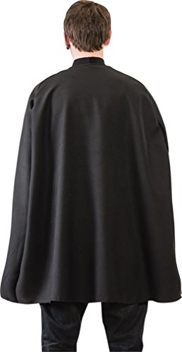 Black Adult Costumes Cape (Black Superhero Cape (One Size Fits All))