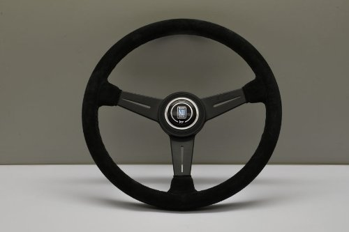(Nardi Steering Wheel - Classic - 360mm (14.17 inches) - Black Suede Leather with Black Stitching - Black Anodized Spokes - Part # 6061.36.2081)