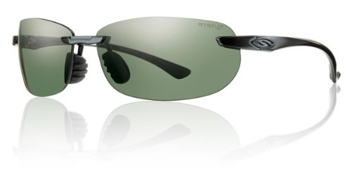 Smith Optics Turnkey Premium Lifestyle Polarized Active Sunglasses - Black/Chromapop Gray Green / Size 66-13-130 (Active Lifestyle Sunglasses)