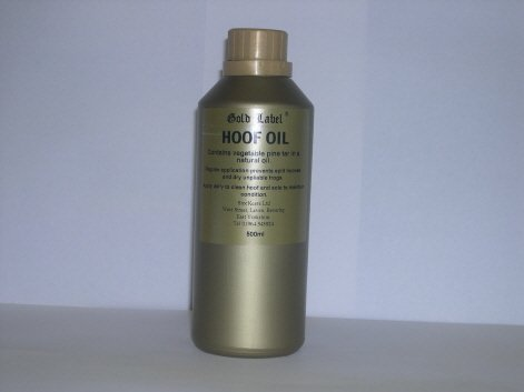 Gold Label Solid Hoof Oil, 500ml - in black