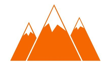 "Price comparison product image Mountain Range Sticker Decal Laptop Window (3.1"" x 5"",  Orange)"