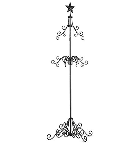Palos Designs Tall Metal Christmas Stocking Holder Stand - Black