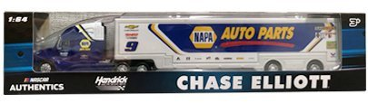 Action Chase Elliott #9 NASCAR Authentics NAPA Hauler Trailer Rig Semi Truck Trailer Tractor Cab.Cab is diecastmetal.Trailer is plastic