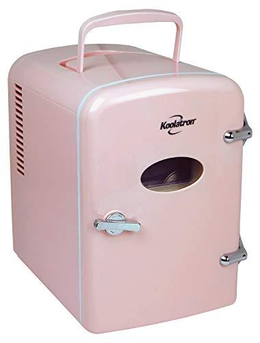 Koolatron KRT04-P Portable Retro Cooler, Compact, pink