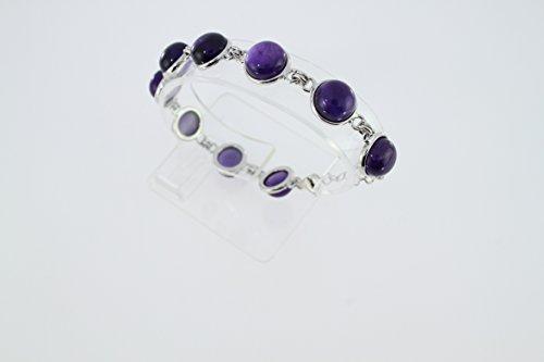 Bracelet en Améthyste B 102-01 - Bijoux en et Améthyste - Diverses pierres possible - ARTIPOL