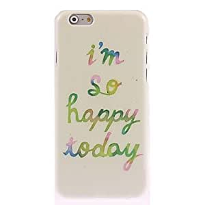 MOM ships in 48 hours Happy Today Design Hard Case for iPhone 6 Plus