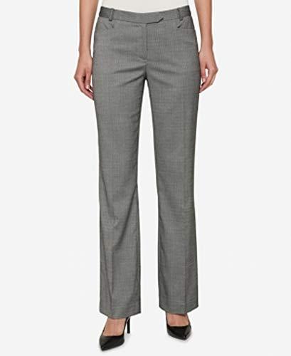 (Tommy Hilfiger Women's Pinstriped Bootcut Pants (4, Grey Multi))
