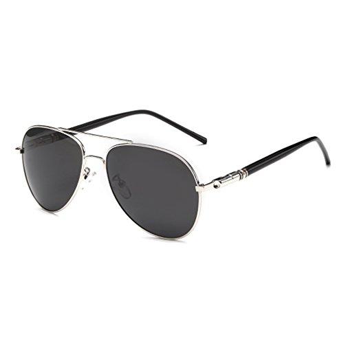 de sol Aviator militar nbsp;– Plateado hombre nbsp;para de estilo Full Gafas Mirrored rnow plata Classic Premium plata Plateado vESq8wOx7n