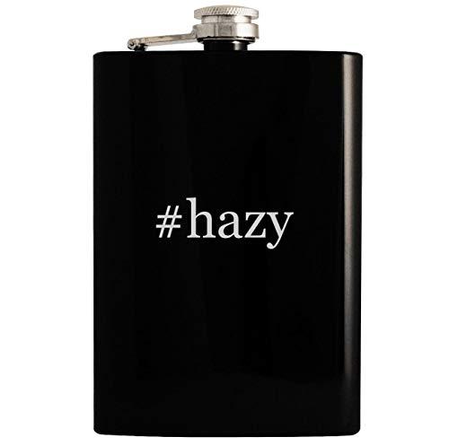 #hazy - 8oz Hashtag Hip Drinking Alcohol Flask, Black
