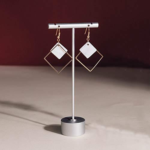 Exhibidor de joyeria en metal altura13cm plateado