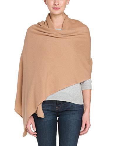 Portolano Womens Cashmere Camel Wrap - Portolano Cashmere