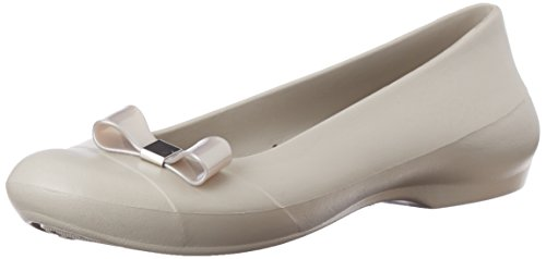 Platinum Mujer W Simple Crocs Flat Platinum Bow Bailarinas para Gianna 4qz0xWw0AS