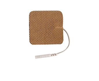 10 Resealable Pack of 4 Electrodes Each Total 40 Electrodes - ESA Medical Premium 40 Electrodes 2.0'' x 2.0'' Sqaure Tan Cloth Electrode Pads with US Made Gel Adhesive by Pro-Patch® by Pro-Patch (Image #1)