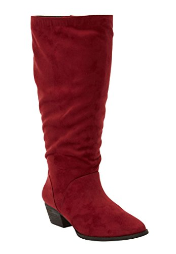 - The Felicity Wide Calf Boot - Rich Burgundy, 7 1/2 W