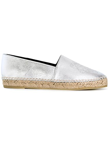 kenzo-womens-f752es180l53ag-silver-leather-espadrilles