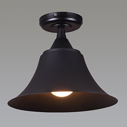 JiaYouJia Mini Semi Flush Mount in Black Lacquer Finish - Light Chandelier Black Lacquer