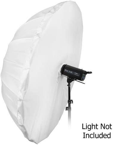 Fotodiox Pro 72in Shoot-Through Neutral White Diffusion Parabolic 16-Rib Umbrella with Neutral White Diffusion Cover