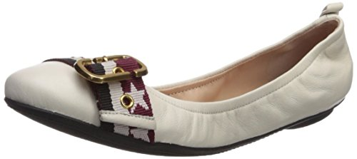 Marc Flat Multi Jacobs White Dolly Buckle Ballet Women's Ballerina r8rnYwqTO