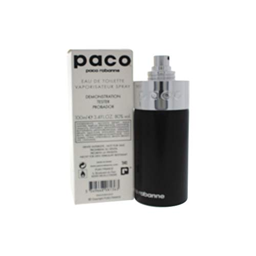 Paco By Paco Rabanne Unisex Fragrance 3.4oz/100ml Eau De Toilette Spray Silver Bottle Tester from Paco Rabanne