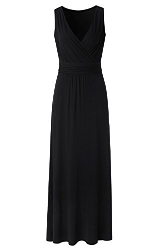 long black polyester dress - 1