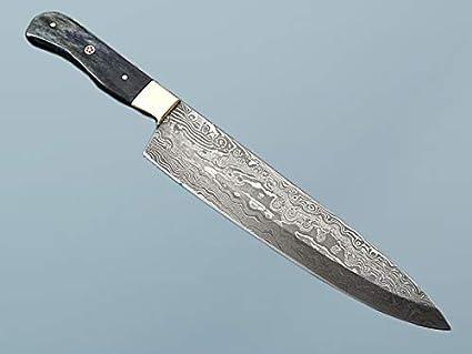Amazon.com: Acero de Damasco cuchillo de cocina 14 inches ...